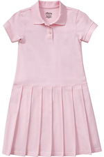 Classroom Uniforms Classroom Girl's S/S Pique Polo Dress in Pink (54122-PINK)