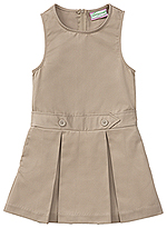 Classroom Uniforms Classroom Girls Kick Pleat Jumper in Khaki (54451-KAK)