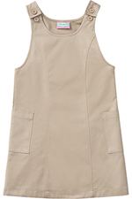 Classroom Uniforms Classroom Preschool Girls Princess Seam Jumper in Khaki (54980-KAK)