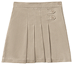 Classroom Uniforms Classroom Girls Stretch Pleated Tab Scooter in Khaki (55122AZ-KAK)