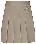 Classroom Uniforms Classroom Girls Pleated Tab Scooter in Khaki (55122A-KAK)