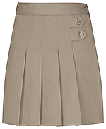 Classroom Uniforms Classroom Girls Plus Pleated Tab Scooter in Khaki (55123-KAK)