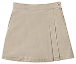 Classroom Uniforms Classroom Junior Stretch Double-Pleated Scooter in Khaki (55274-KAK)