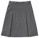 Classroom Uniforms Classroom Girls Ponte Knit Kick Pleat Skirt in Heather Gray (55403AZ-HGRY)