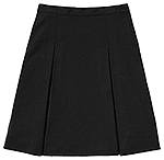 Classroom Uniforms Classroom Juniors Ponte Knit Kick Pleat Skirt in Black (55404Z-BLK)