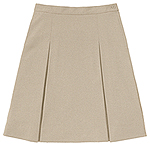 Classroom Uniforms Classroom Juniors Ponte Knit Kick Pleat Skirt in Khaki (55404Z-KAK)