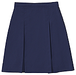 Classroom Uniforms Classroom Girls kick pleat skirt with inside adjus in Dark Navy (55792A-DNVY)