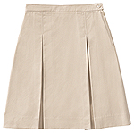 Classroom Uniforms Girls kick pleat skirt with inside adjus in Khaki (55792A-KAK)