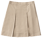 Classroom Uniforms Classroom Girls Plus Kick Pleat Skirt in Khaki (55863-KAK)