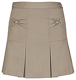 Classroom Uniforms Classroom Preschool Girls Bow Pocket Scooter in Khaki (55980-KAK)