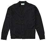 Classroom Uniforms Classroom Youth Unisex Cardigan Sweater in Black (56432-BLK)