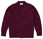 Classroom Uniforms Classroom Adult Unisex Cardigan Sweater in Burgundy (56434-BUR)