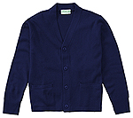 Classroom Uniforms Classroom Adult Unisex Cardigan Sweater in Dark Navy (56434-DNVY)
