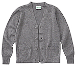 Classroom Uniforms Classroom Adult Unisex Cardigan Sweater in Heather Gray (56434-HGRY)
