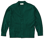 Classroom Uniforms Classroom Adult Unisex Cardigan Sweater in Hunter Green (56434-HUN)