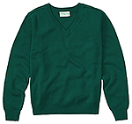 Classroom Uniforms Classroom Youth Unisex Long Sleeve V-neck Sweater in Hunter Green (56702-HUN)
