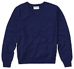 Classroom Uniforms Classroom Adult Unisex Long Sleeve V-Neck Sweater in Dark Navy (56704-DNVY)