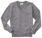 Classroom Uniforms Classroom Adult Unisex Long Sleeve V-Neck Sweater in Heather Gray (56704-HGRY)