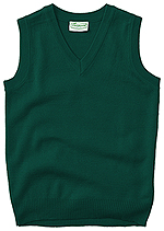 Classroom Uniforms Classroom Youth Unisex V- Neck Sweater Vest in Hunter Green (56912-HUN)