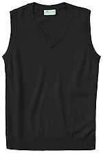 Classroom Uniforms Classroom Adult Unisex V-Neck Sweater Vest in Black (56914-BLK)