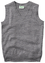 Classroom Uniforms Classroom Adult Unisex V-Neck Sweater Vest in Heather Gray (56914-HGRY)