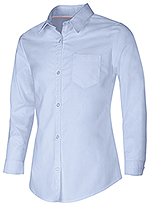 Classroom Uniforms Classroom Girls Long Sleeve Oxford Shirt in Light Blue (57512-LTB)