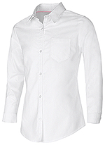 Classroom Uniforms Classroom Girls Long Sleeve Oxford Shirt in White (57512-WHT)