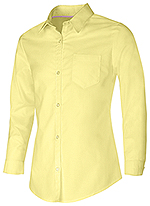 Classroom Uniforms Classroom Junior Long Sleeve Oxford Shirt in Yellow (57514-YEL)