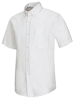 Classroom Uniforms Classroom Boy Husky S/S Oxford Shirt in White (57603-WHT)
