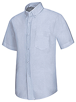 Classroom Uniforms Classroom Men's Short Sleeve Oxford Shirt in Light Blue (57604-LTB)