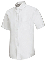 Classroom Uniforms Classroom Men's Short Sleeve Oxford Shirt in White (57604-WHT)
