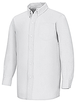 Classroom Uniforms Classroom Boys Husky L/S Oxford Shirt in White (57653-WHT)