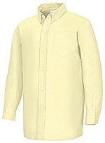 Classroom Uniforms Classroom Boys Husky L/S Oxford Shirt in Yellow (57653-YEL)