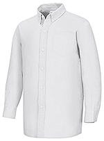 Classroom Uniforms Classroom Men's Long Sleeve Oxford Shirt in White (57654-WHT)