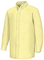 Classroom Uniforms Classroom Men's Long Sleeve Oxford Shirt in Yellow (57654-YEL)
