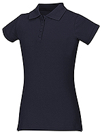 Classroom Uniforms Classroom Girls Stretch Pique Polo in Dark Navy (58222-DNVY)