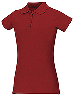 Classroom Uniforms Classroom Girls Stretch Pique Polo in Red (58222-RED)