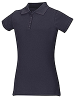 Classroom Uniforms Classroom Girls Stretch Pique Polo in SS Navy (58222-SSNV)