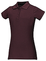 Classroom Uniforms Classroom Junior Stretch Pique Polo in Burgundy (58224-BUR)