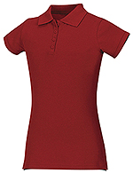 Classroom Uniforms Classroom Junior Stretch Pique Polo in Red (58224-RED)