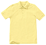 Classroom Uniforms Classroom Youth Unisex Short Sleeve Pique Polo in Yellow (58322-YEL)