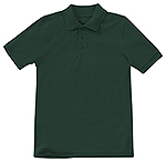 Classroom Uniforms Classroom Adult Unisex Short Sleeve Pique Polo in SS Hunter Green (58324-SSHN)