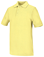Classroom Uniforms Classroom Adult Unisex Short Sleeve Pique Polo in Yellow (58324-YEL)