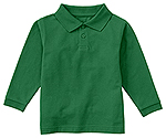 Classroom Uniforms Classroom Preschool Unisex LS Pique Polo in SS Kelly Green (58350-SSKG)