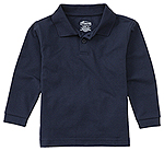Classroom Uniforms Classroom Adult Unisex Long Sleeve Pique Polo in Dark Navy (58354-DNVY)