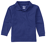 Classroom Uniforms Classroom Adult Unisex Long Sleeve Pique Polo in SS Royal (58354-SSRY)