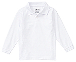 Classroom Uniforms Classroom Adult Unisex Long Sleeve Pique Polo in SS White (58354-SSWT)