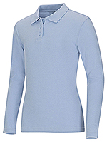 Photo of Junior Long Sleeve Fitted Interlock Polo