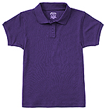 Classroom Uniforms Classroom Girls Short Sleeve Fitted Interlock Polo in Dark Purple (58582-DKPR)