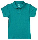 Classroom Uniforms Classroom Girls Short Sleeve Fitted Interlock Polo in Teal (58582-TEAL)